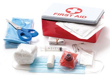 Keep your first aid kit updated.