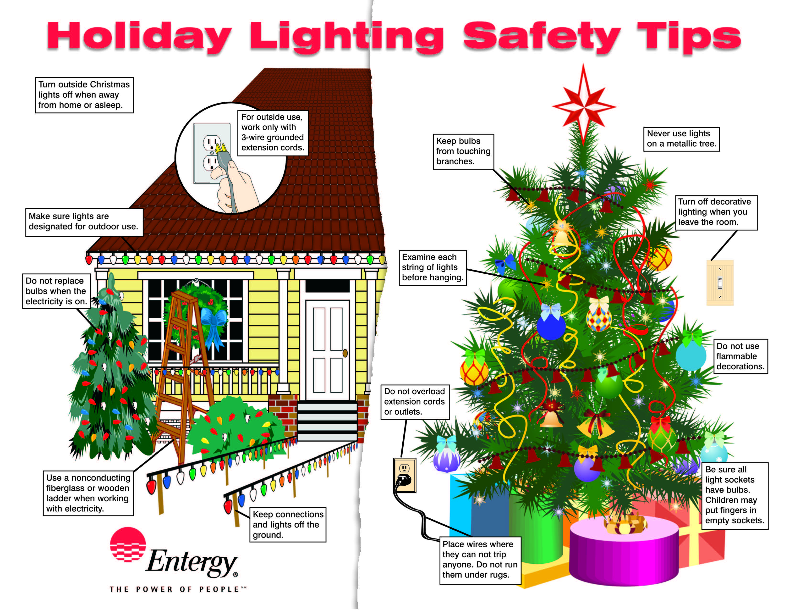 follow these important safety and energy saving tips and have a happy holiday season with your family neighbors and friends