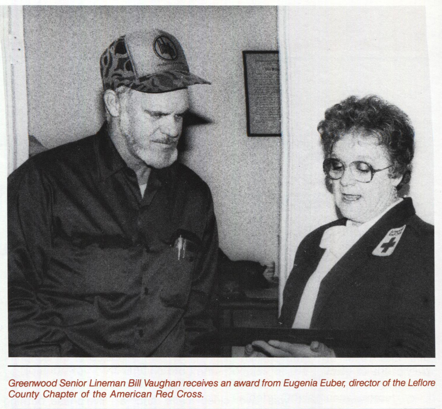 From our archives, Bill Vaughan receives an award for helping to save a colleague's life.