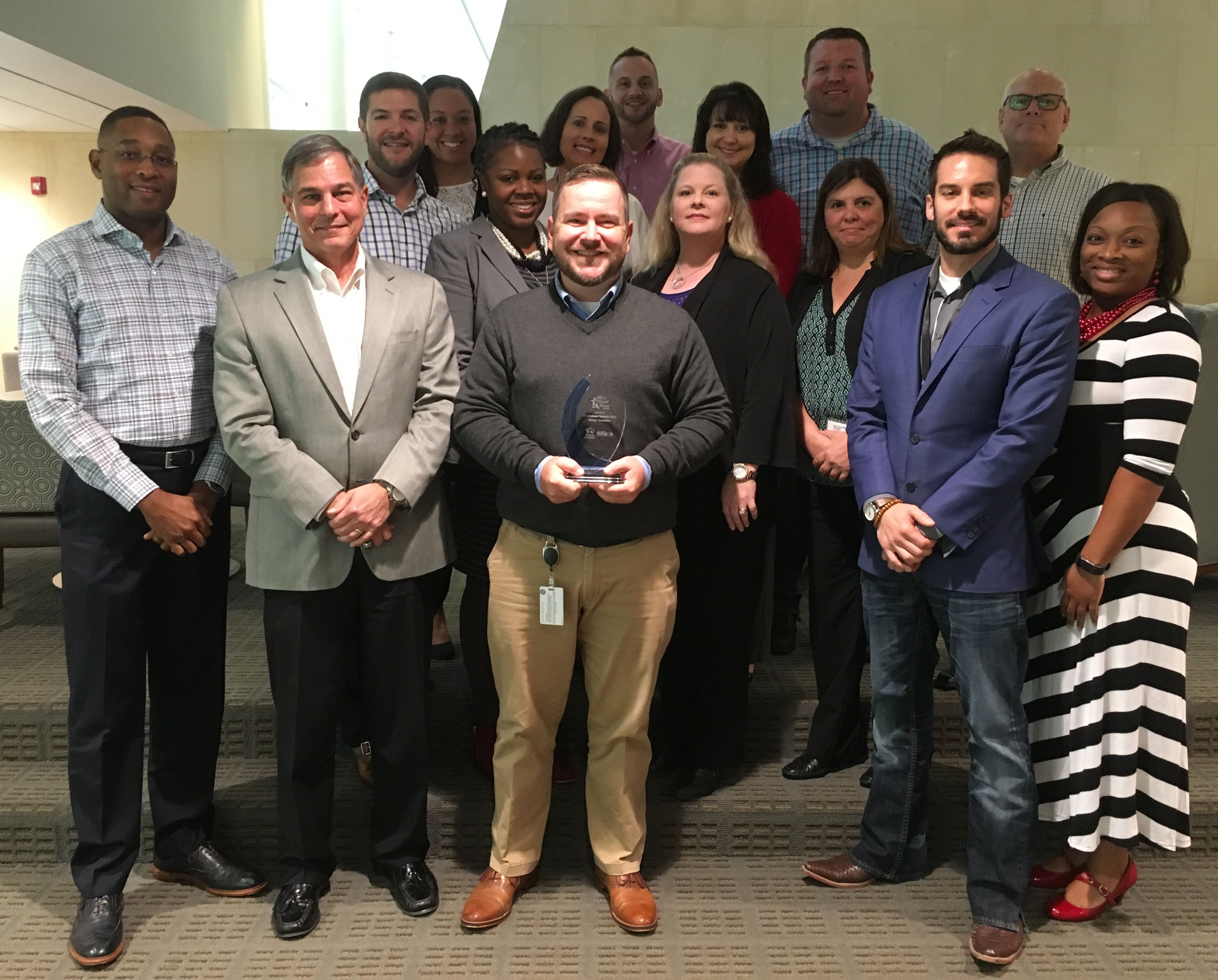 Entergy employees with the Association of ERGs & Councils award