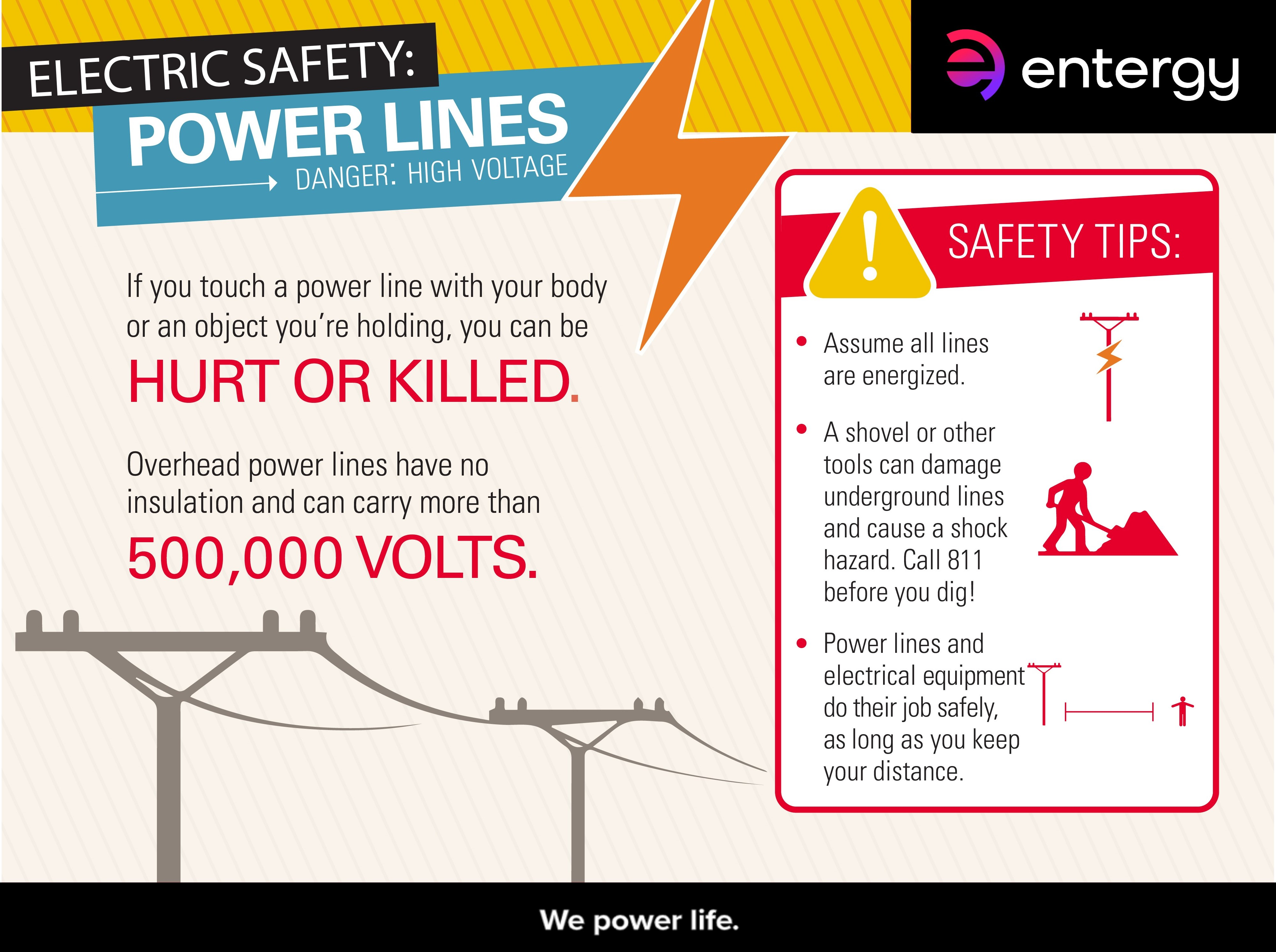 Electric Safety Power Lines Entergy Newsroom